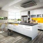 rodrix-küchenstudio-showroom-küche-dan-weiß-insel-glänzend-orange-panel